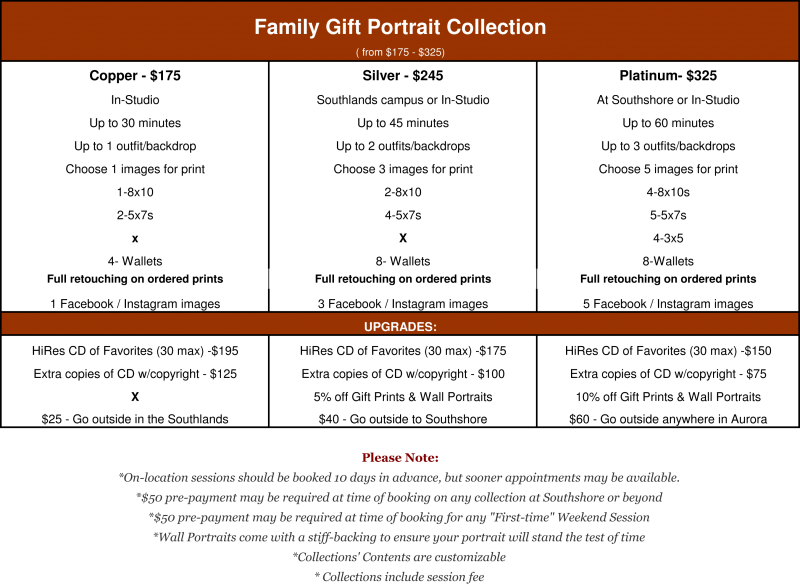 Gift Portrait Family Portrait Collection starting at $175