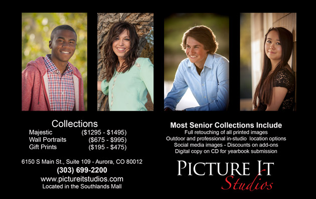 H. S. Senior portrait packages are from $225