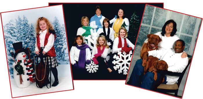 Holiday Wall Portrait packages include medium-portraits up to 16 x 20""