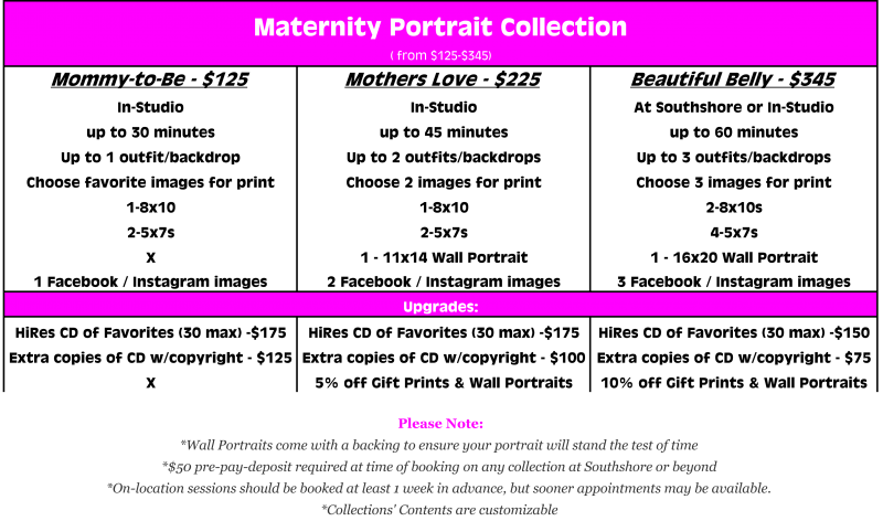 The Maternity Portrait Collection from $125