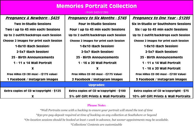The Memories Portrait Collection from $425