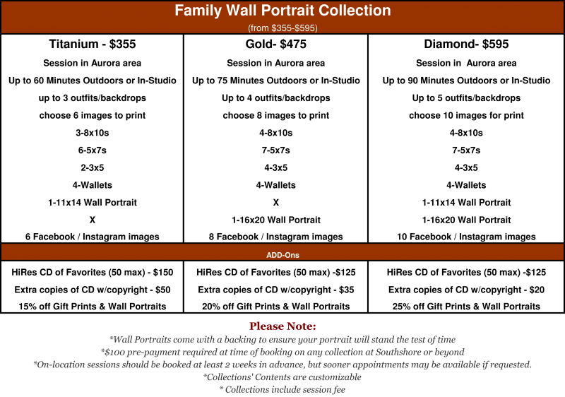 Wall Portrait Collection starting at $355