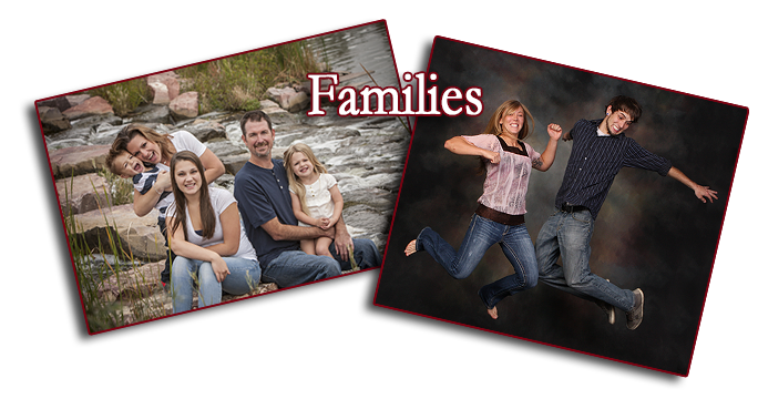 Families portrait outdoor in-studio